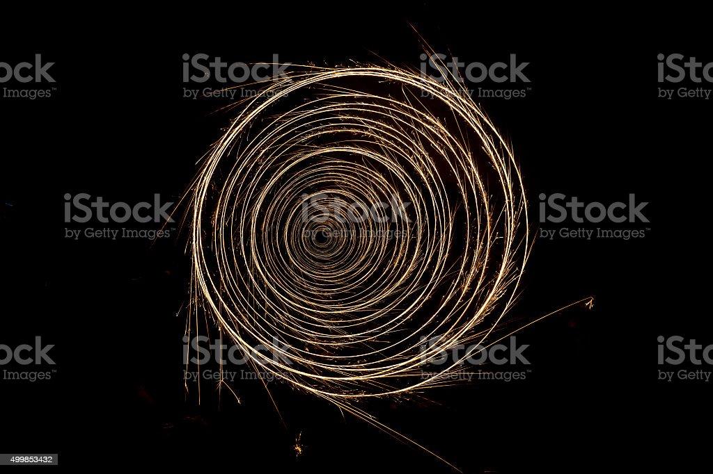 Sparkling circle spring stock photo
