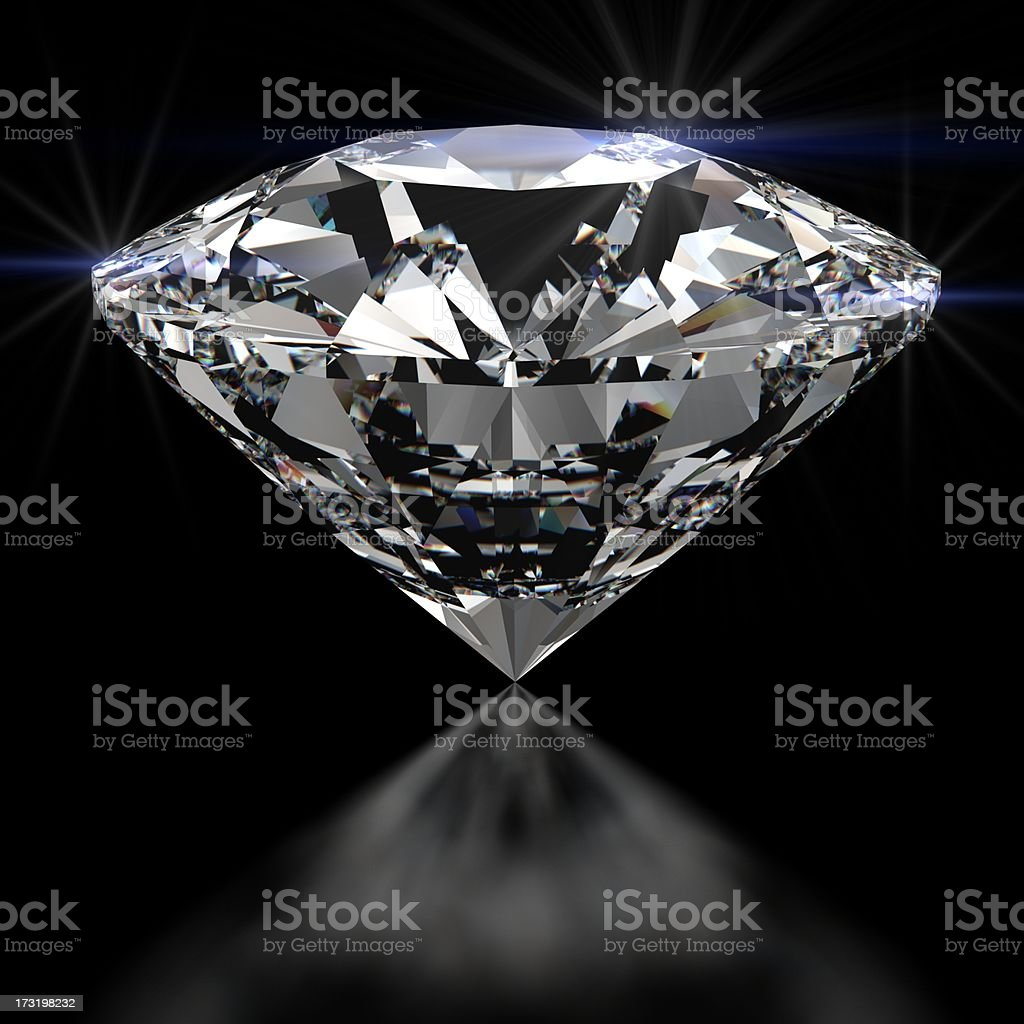 Sparkling Diamond stock photo