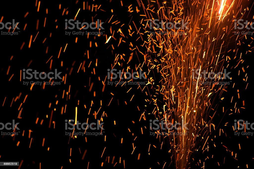 Sparkling Fire stock photo