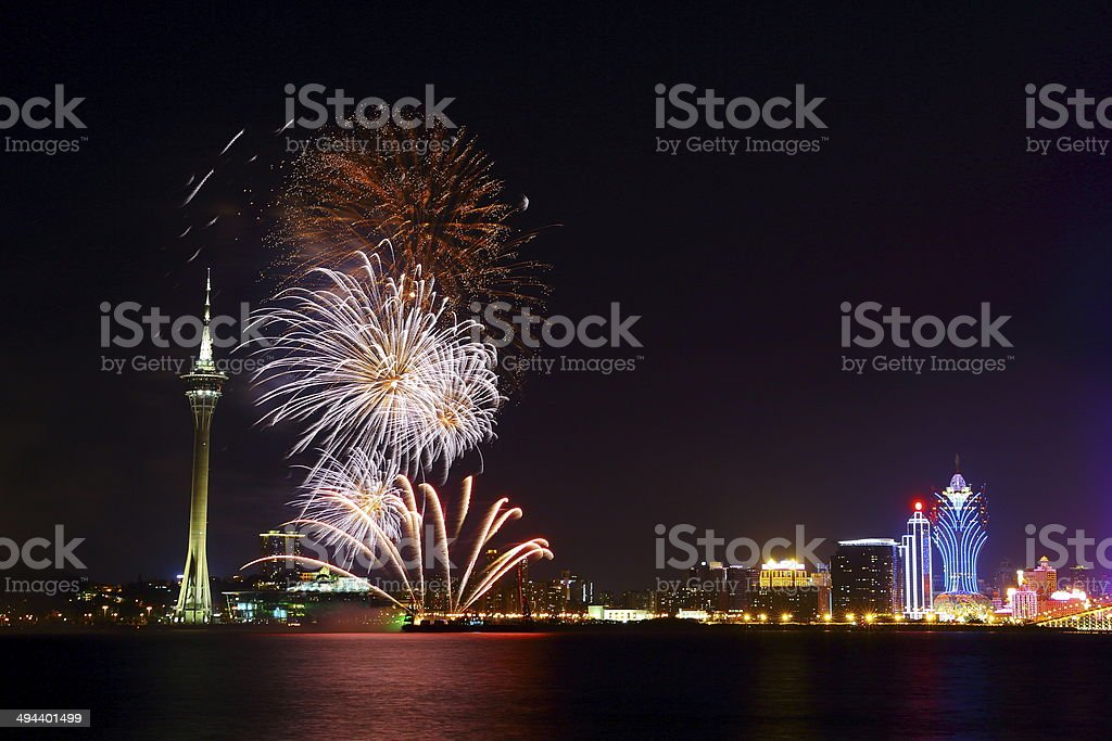 Sparkling Firework Display royalty-free stock photo