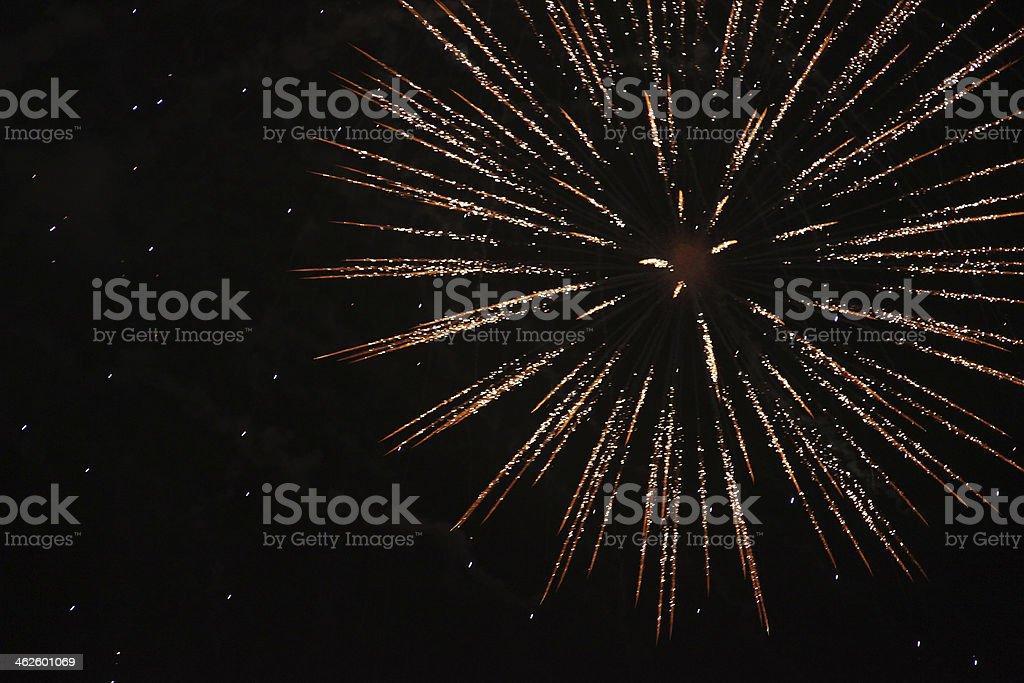 Sparkling fireworks royalty-free stock photo
