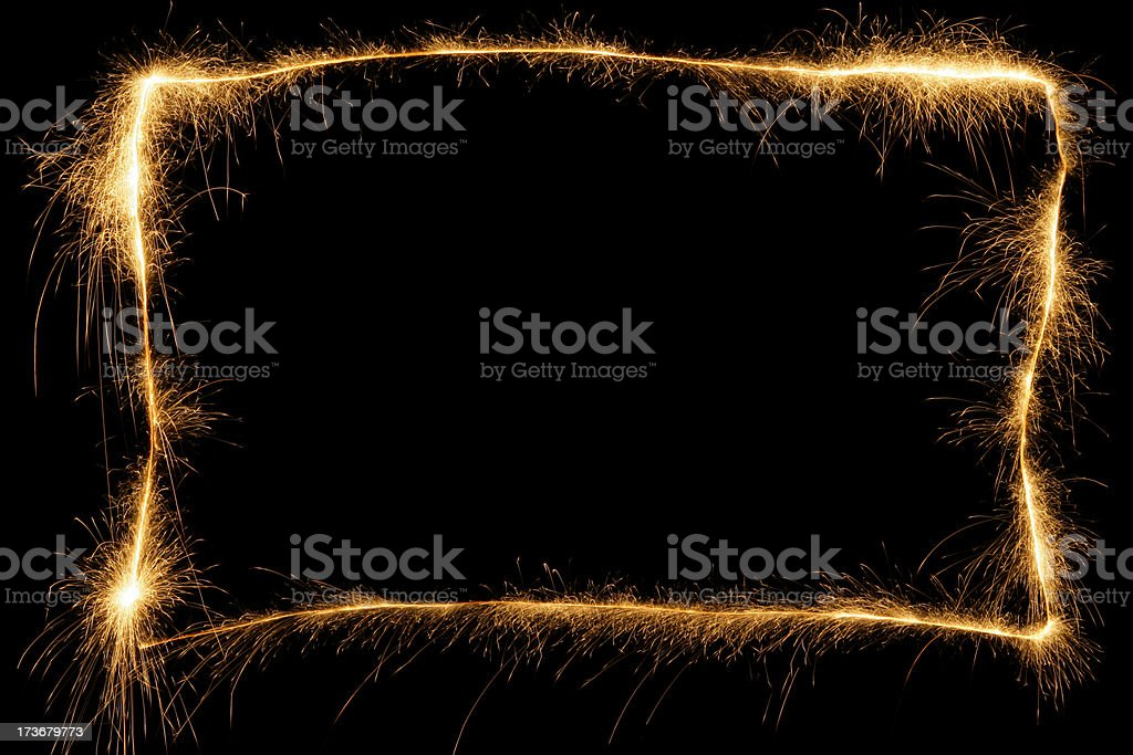 Sparkling Frame royalty-free stock photo