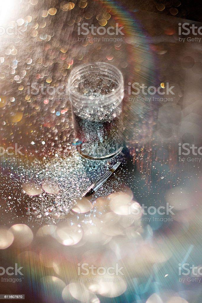 Sparkling glitter stock photo