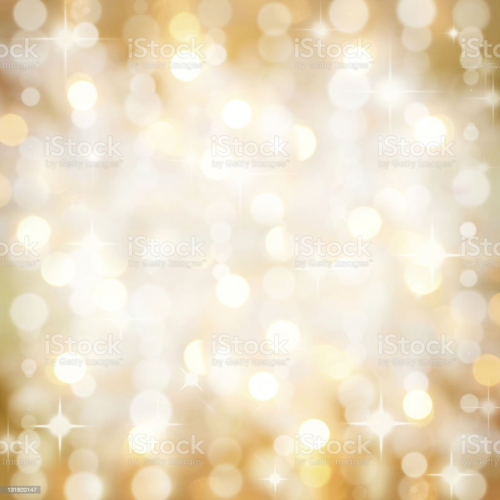 Sparkling golden Christmas party lights background stock photo