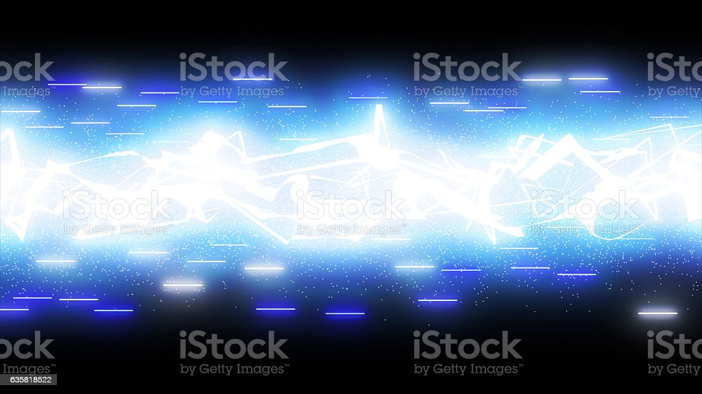 sparkling graphic particles and shiny lines stock photo