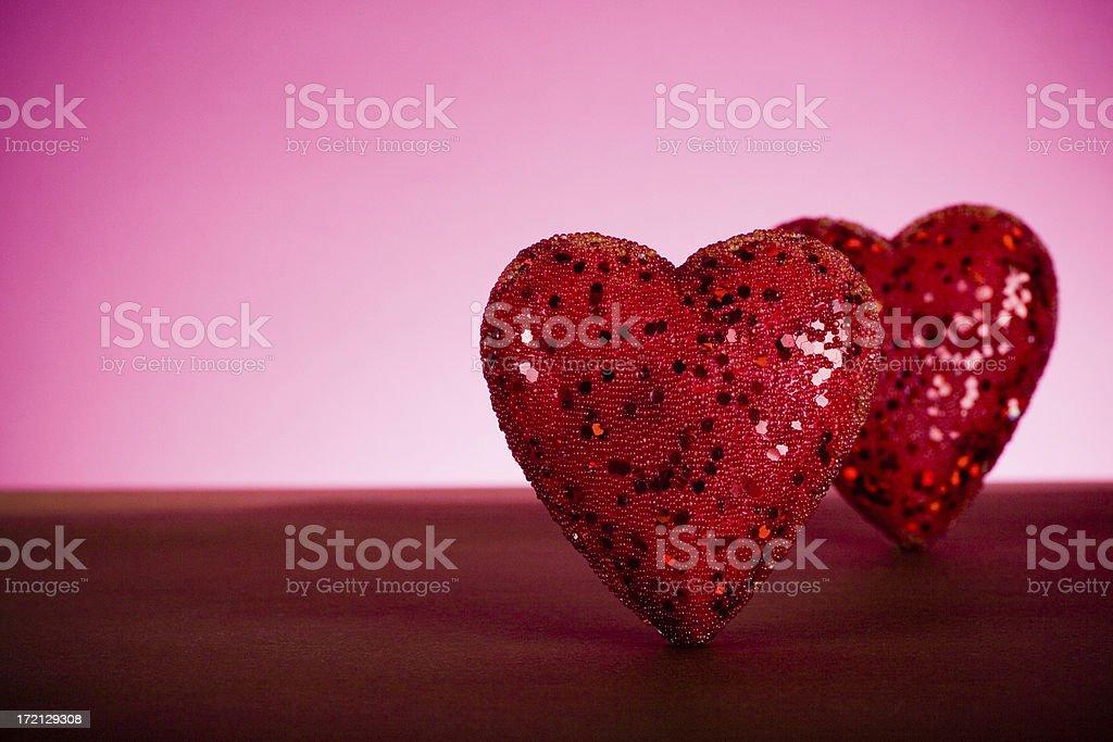 Sparkling hearts royalty-free stock photo