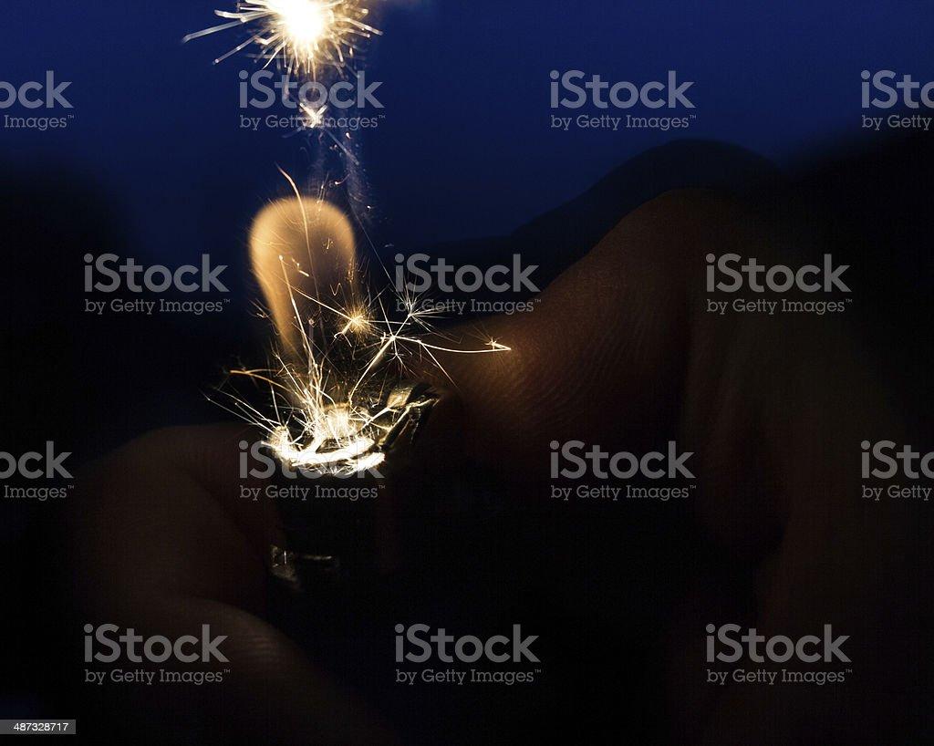 Sparkling moment stock photo