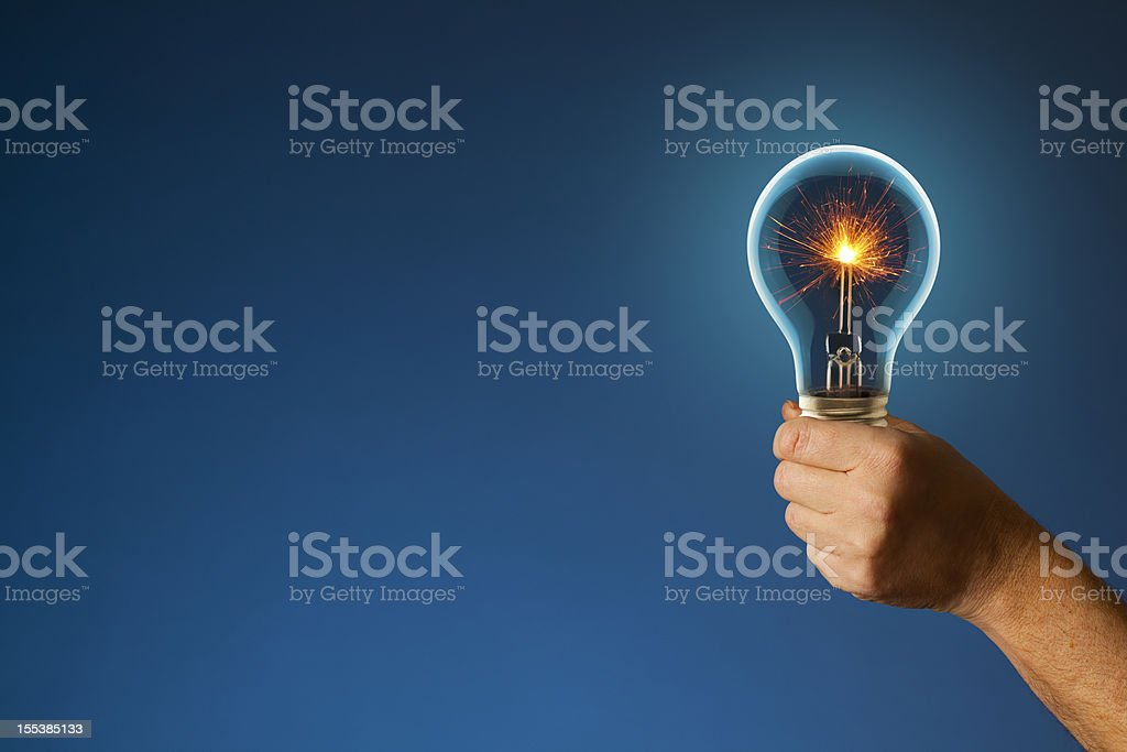 sparkling New Idea Lighting the Way Forward stock photo