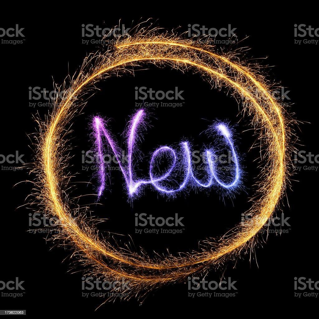 Sparkling NEW royalty-free stock photo