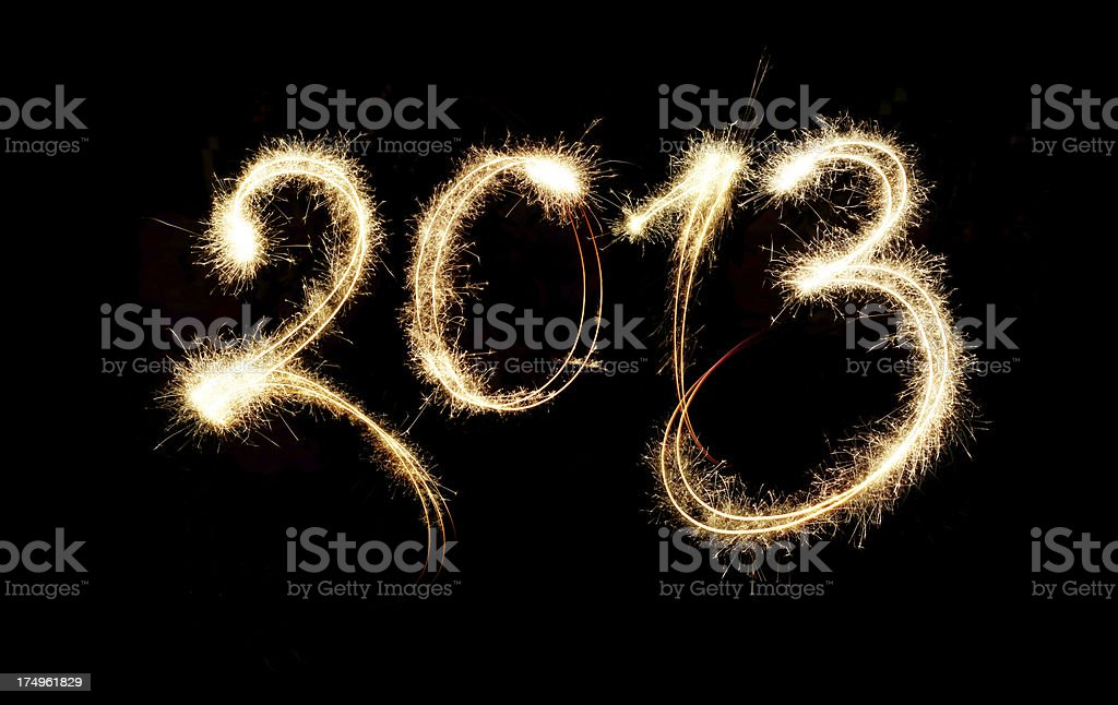 Sparkling New Year 2013 royalty-free stock photo