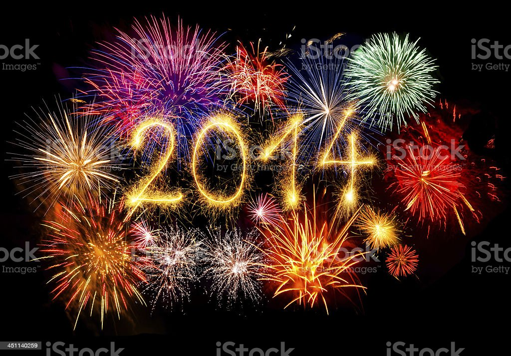 Sparkling New Year 2014 royalty-free stock photo