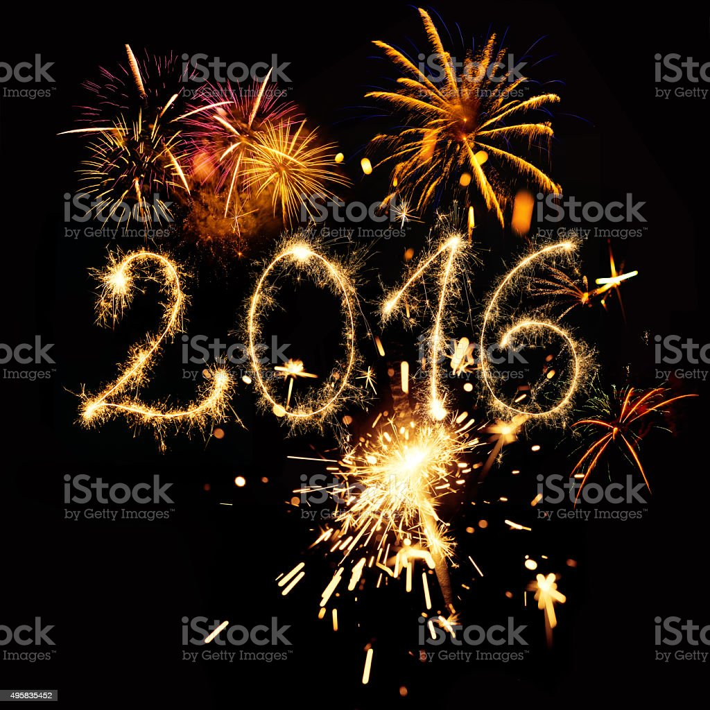 Sparkling New Year 2016 stock photo