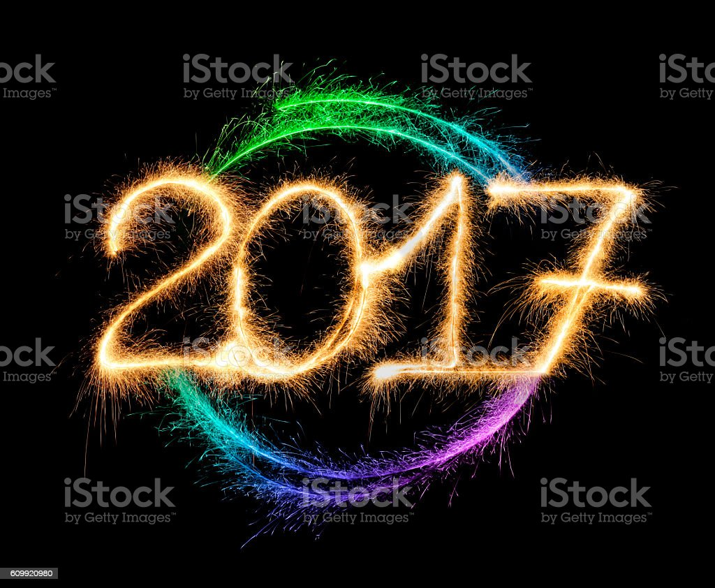 Sparkling New Year 2017 stock photo