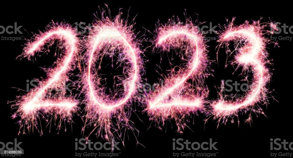 Sparkling New Year 2023 stock photo