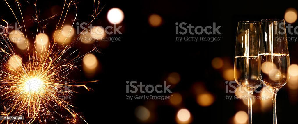 Sparkling New Year background stock photo