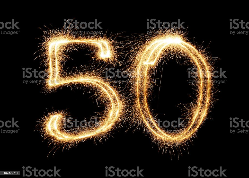 Sparkling Number 50 (XXL) stock photo