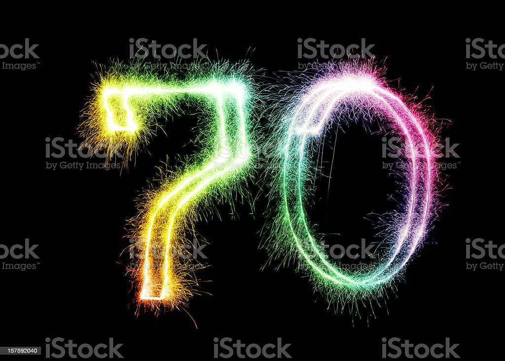 Sparkling Number 70 (XXL) stock photo