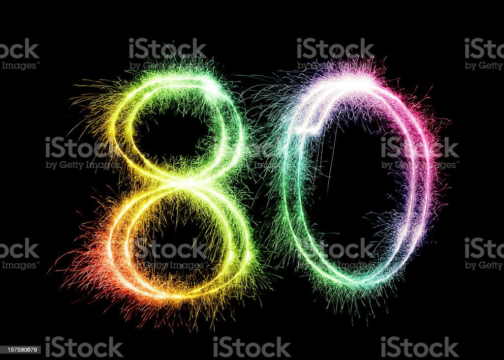 Sparkling Number 80 (XXL) stock photo