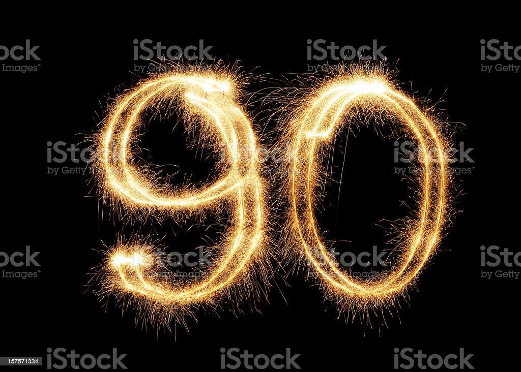 Sparkling Number 90 (XXL) stock photo