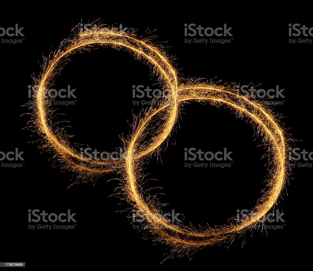 Sparkling Rings royalty-free stock photo