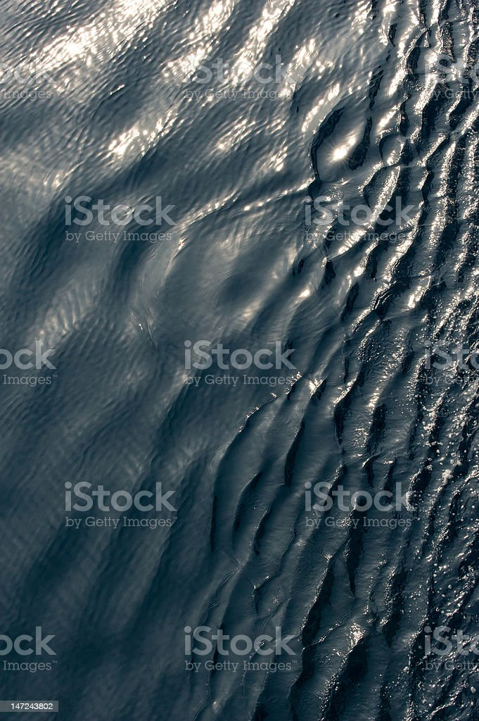 sparkling sea water surface royalty-free stock photo