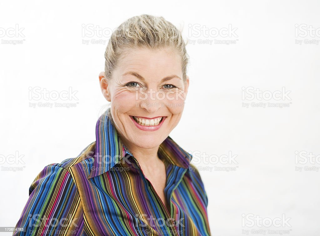 sparkling smile of a beautiful woman royalty-free stock photo