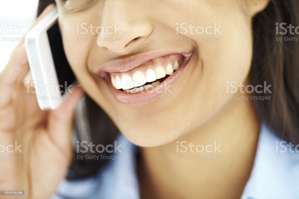 Sparkling smile on a successful businesswoman! royalty-free stock photo