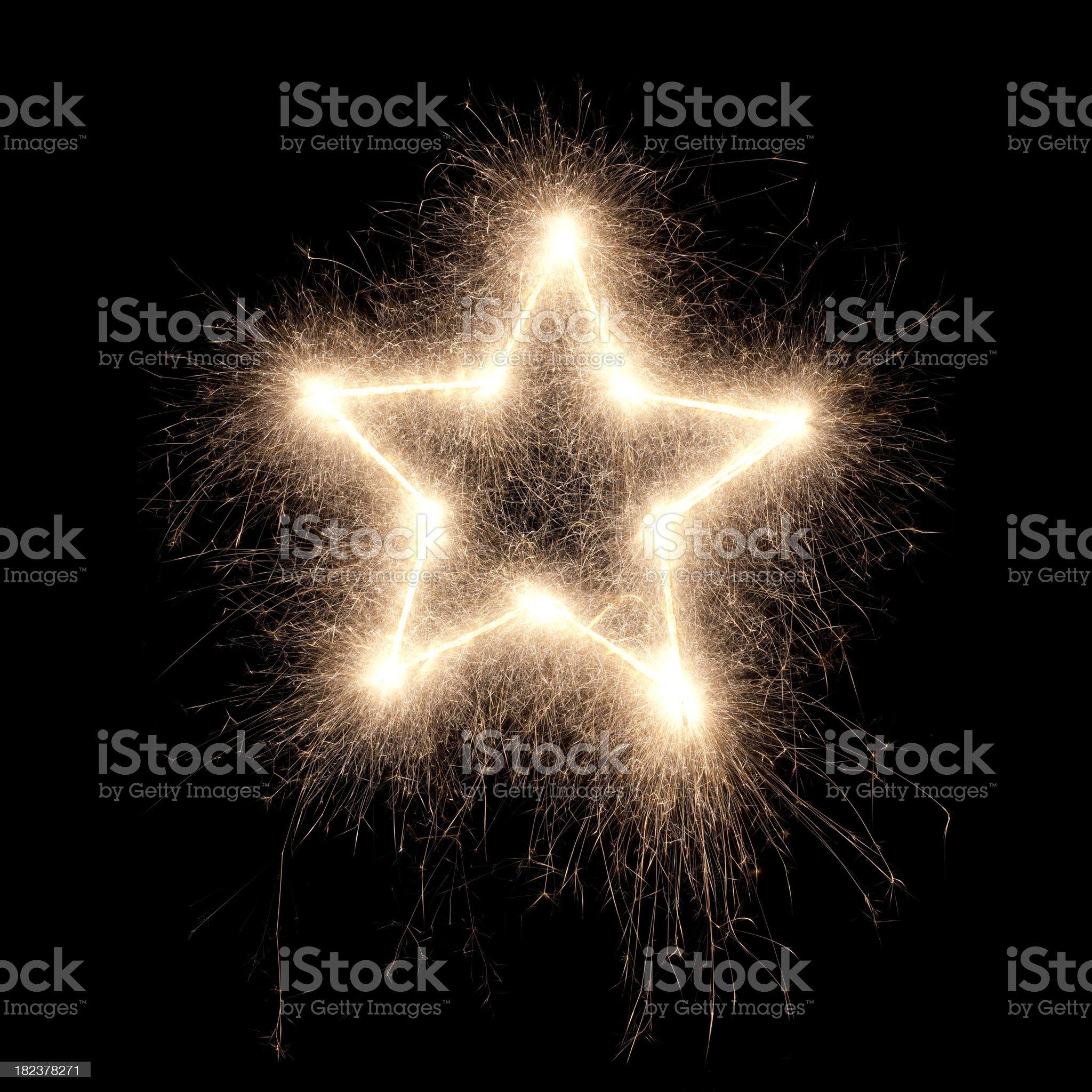 sparkling star royalty-free stock photo