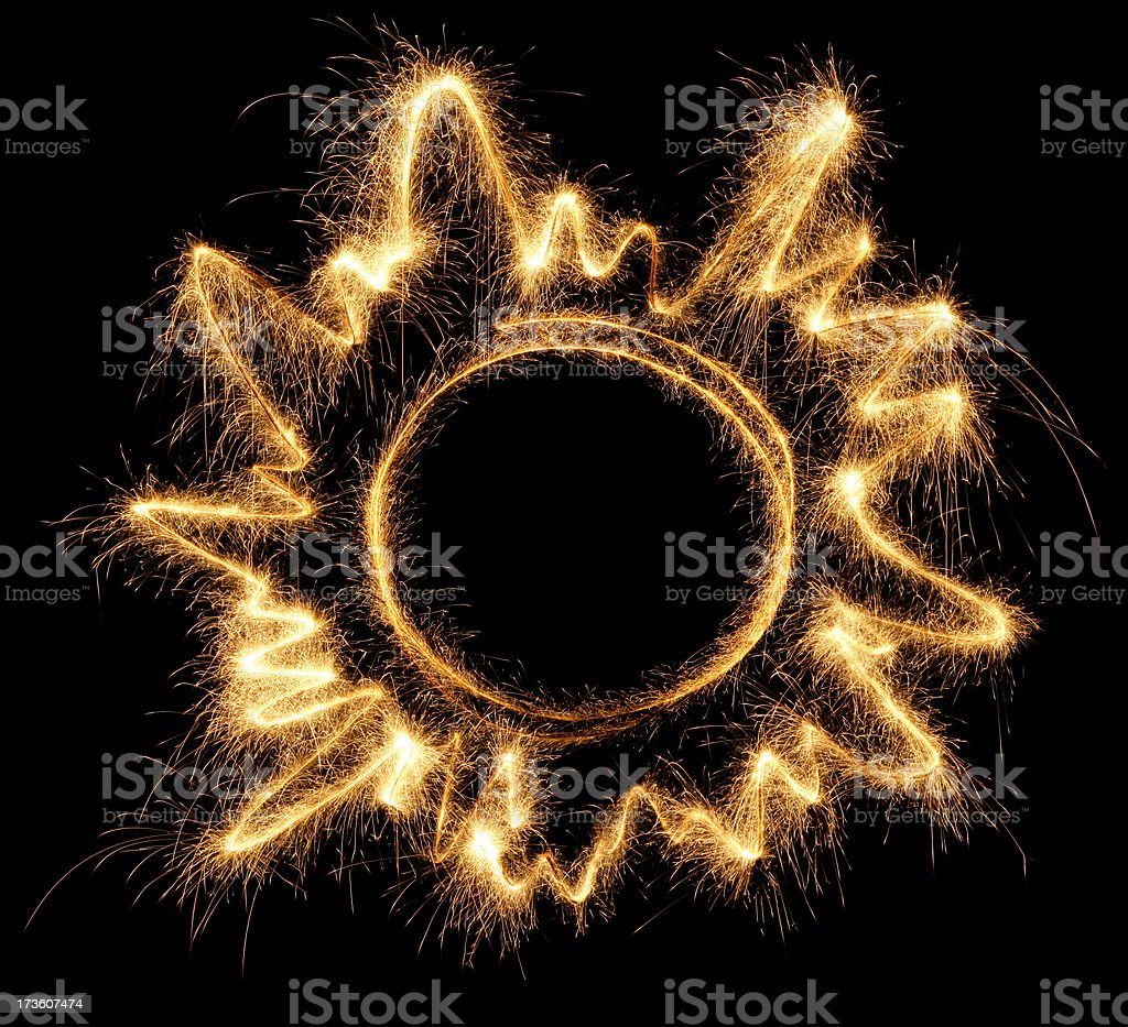 Sparkling Sun royalty-free stock photo