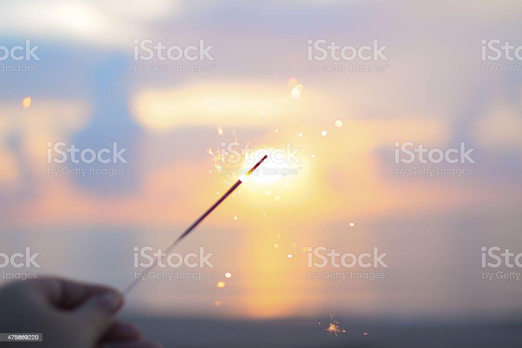Sparkling Sunrise stock photo