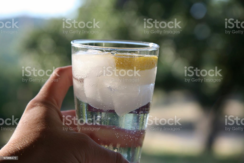 Sparkling Water in Glass royalty-free stock photo