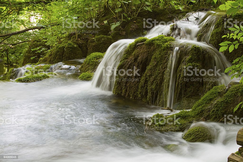Sparkling waterfall stock photo