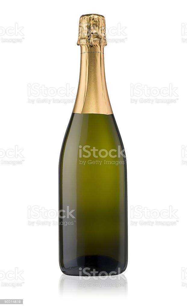 Sparkling White Wine Bottle stock photo