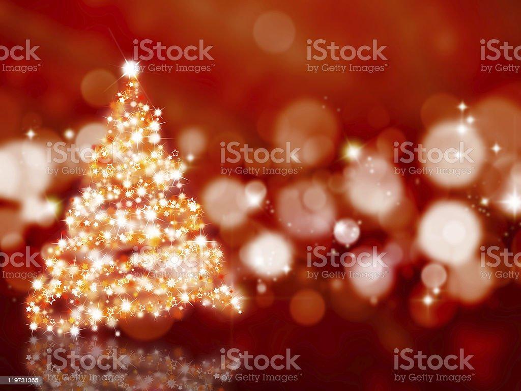 Sparkly Christmas tree stock photo