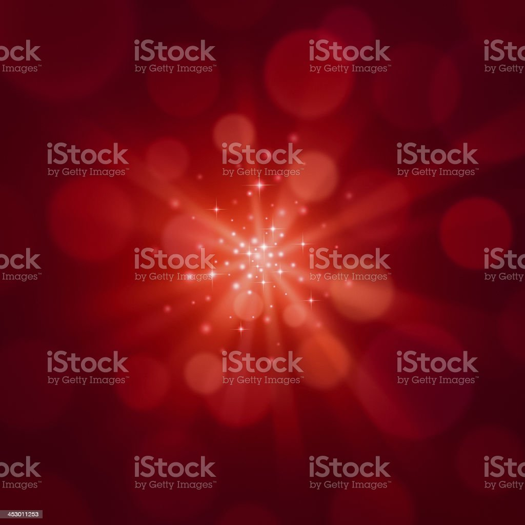 Sparkly Red Christmas Background stock photo