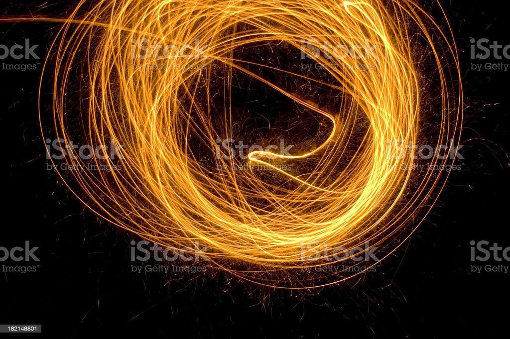 Sparks, bonfire night royalty-free stock photo