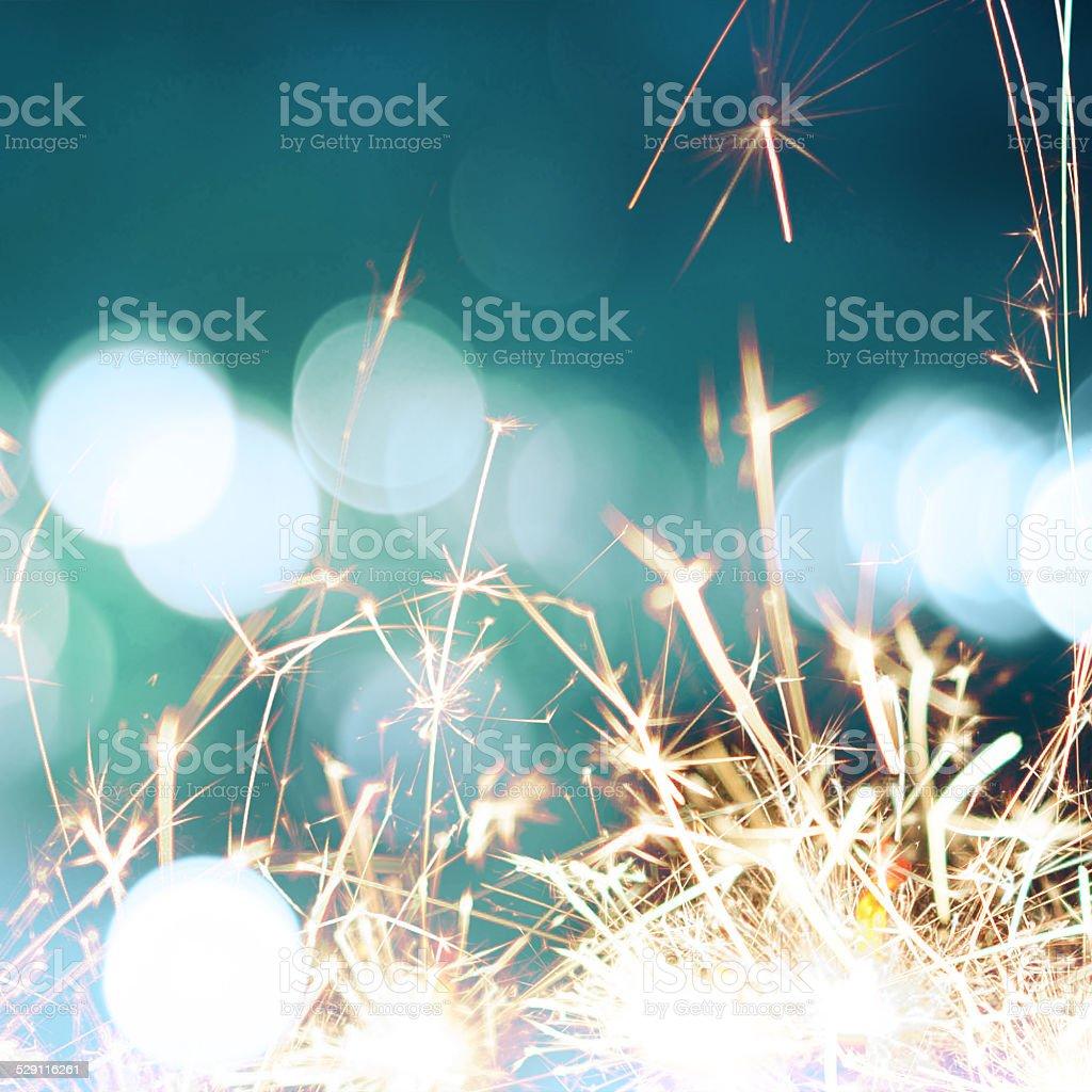 Sparks border stock photo
