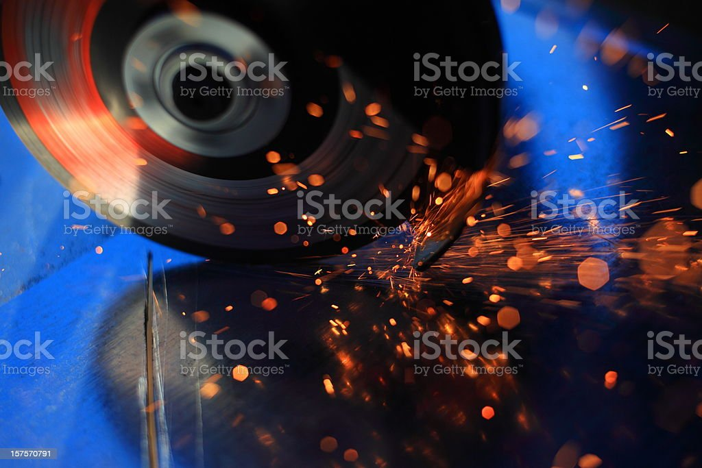 Sparks Cutting Metal stock photo