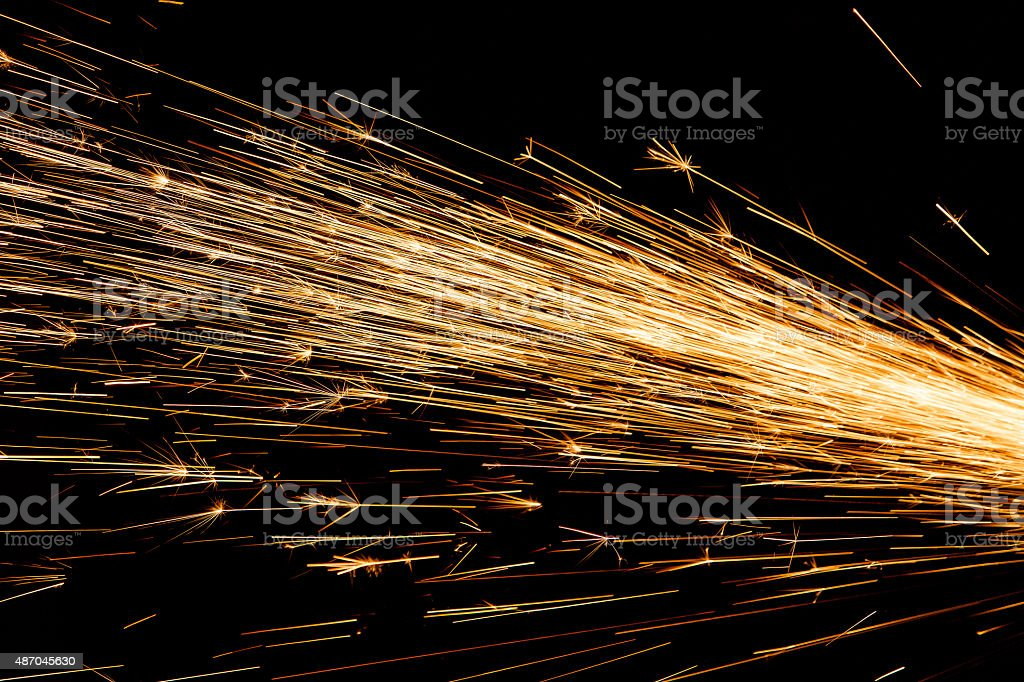 Sparks Fly stock photo