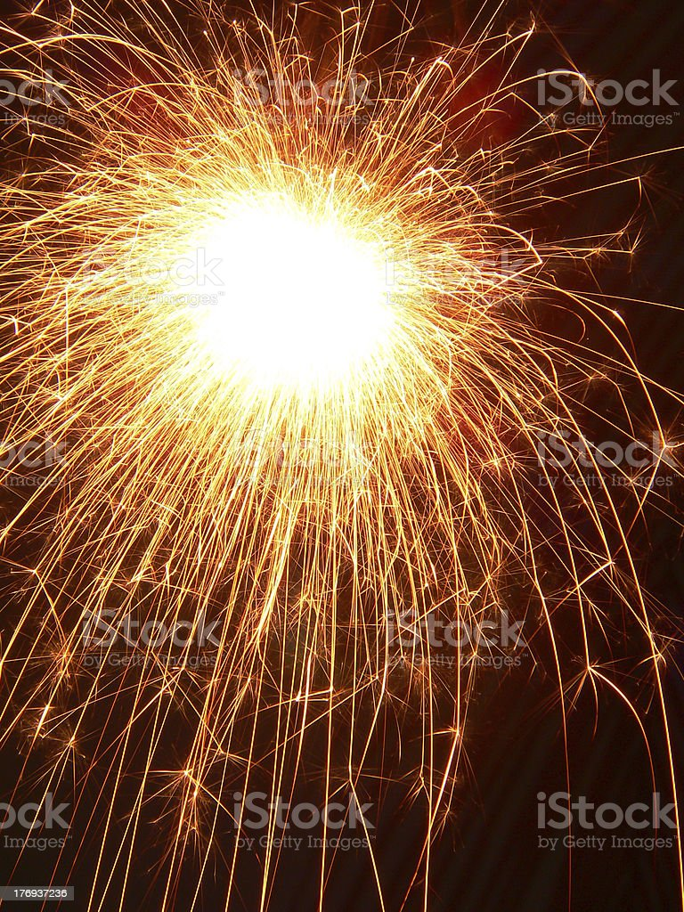 sparks flying royalty-free stock photo