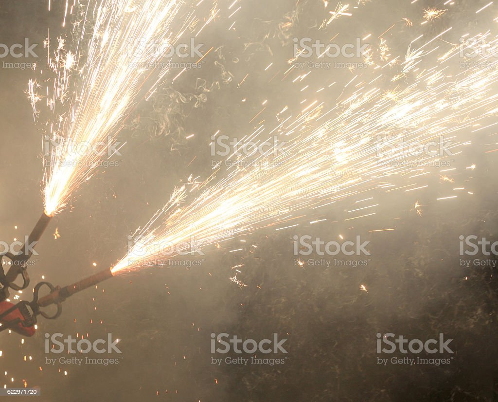 Sparks from bengals stock photo
