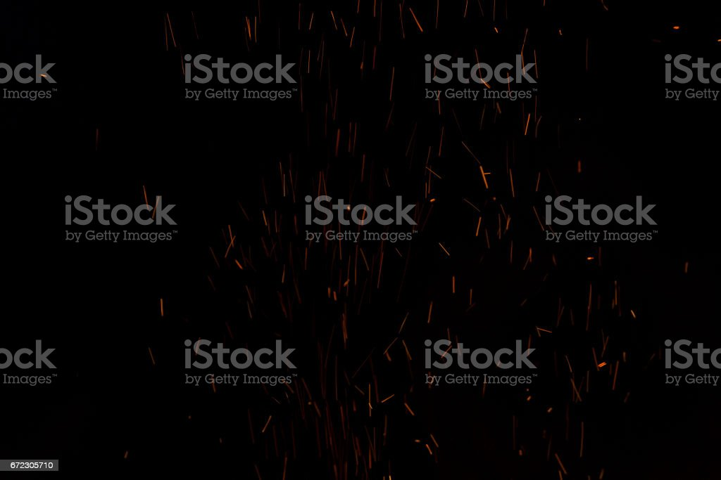 Sparks from fire stock photo