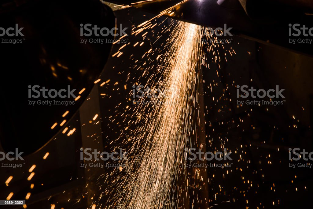 Sparks from Welding stock photo