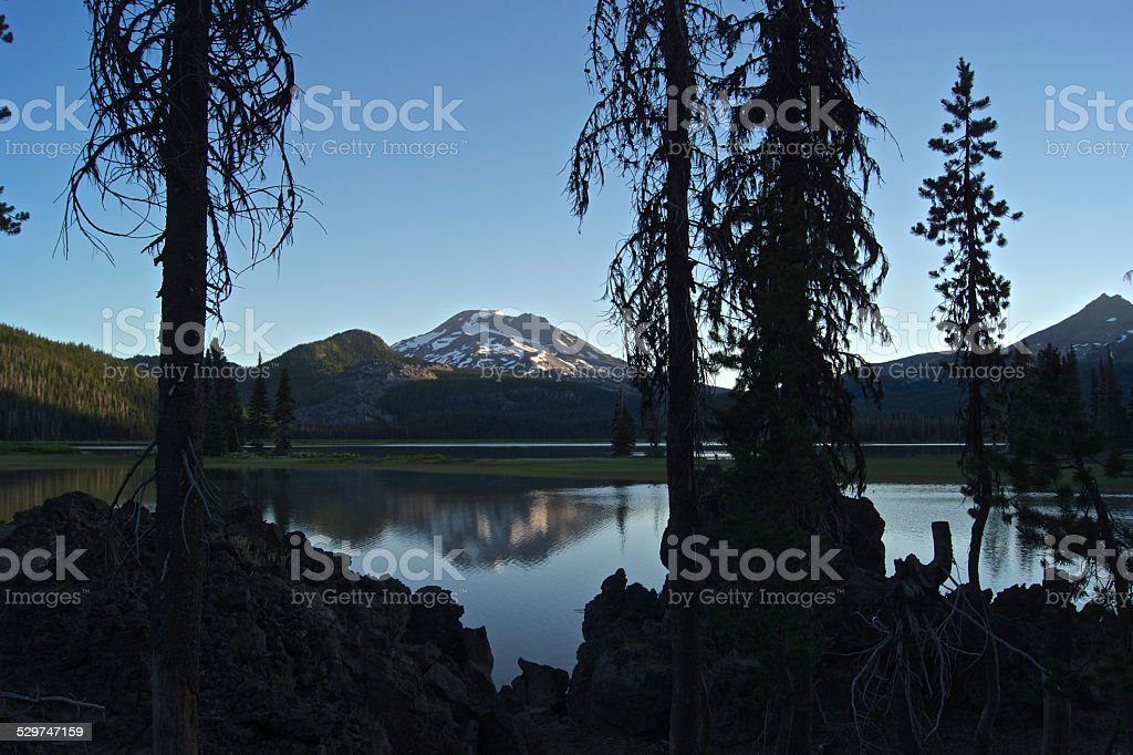 Sparks Lake Lava stock photo
