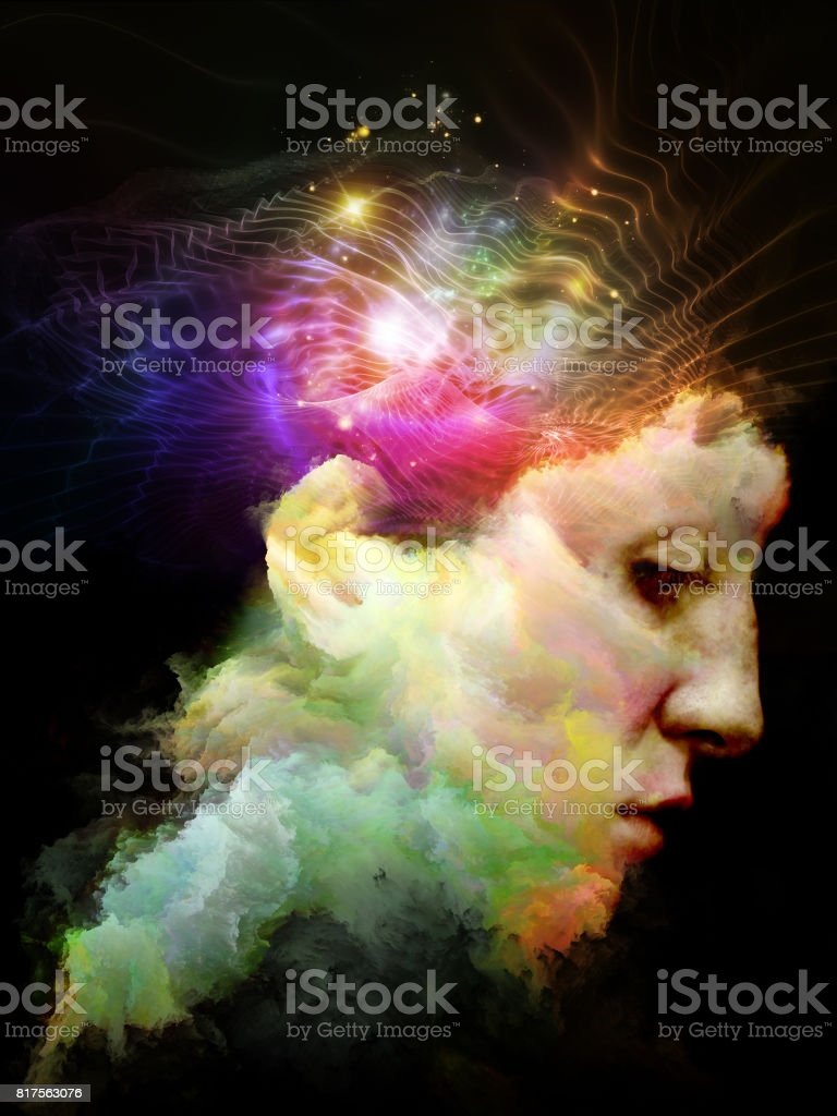 Sparks of Thinking stock photo