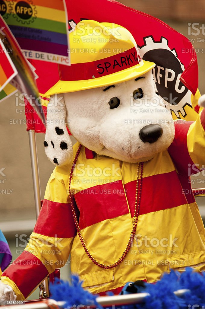 Sparky the Fire Dog stock photo