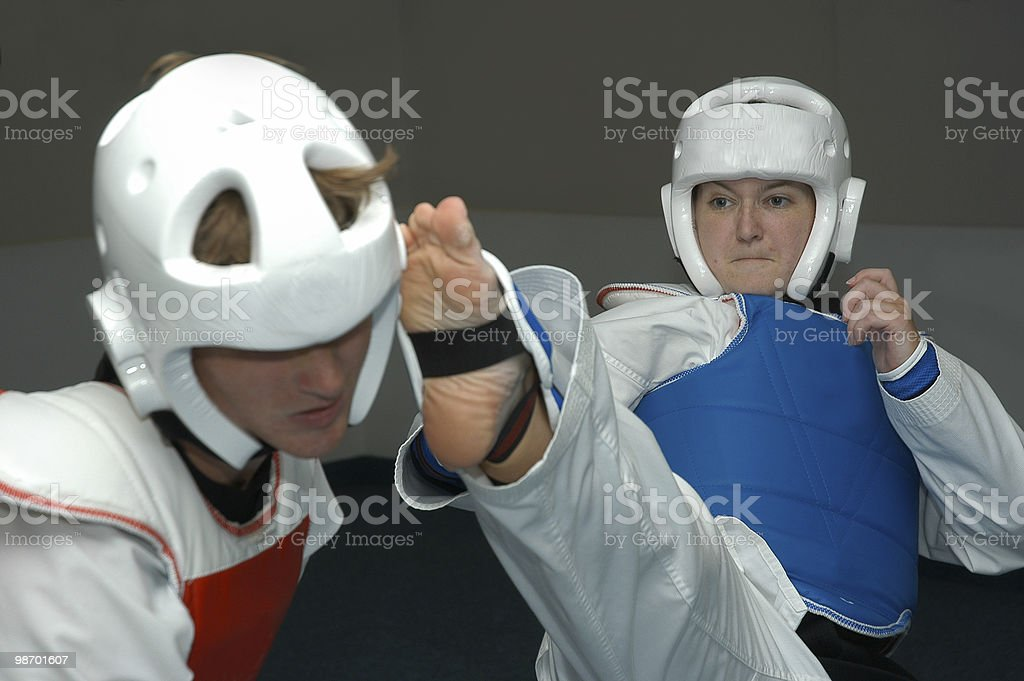 Sparring 2 royalty-free stock photo