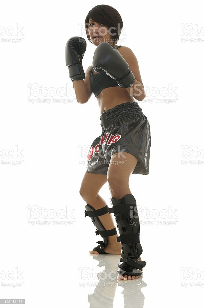 Sparring class royalty-free stock photo