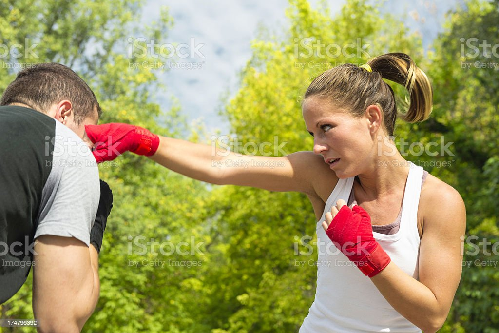 Sparring partners royalty-free stock photo