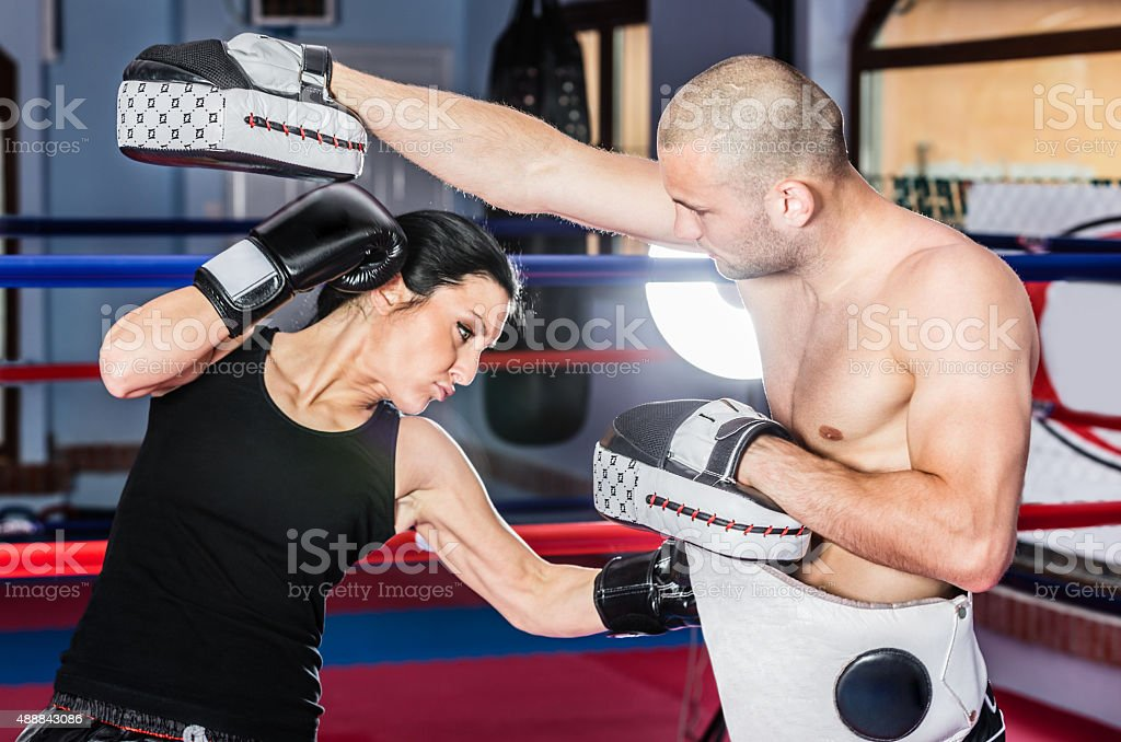 Sparring partners stock photo